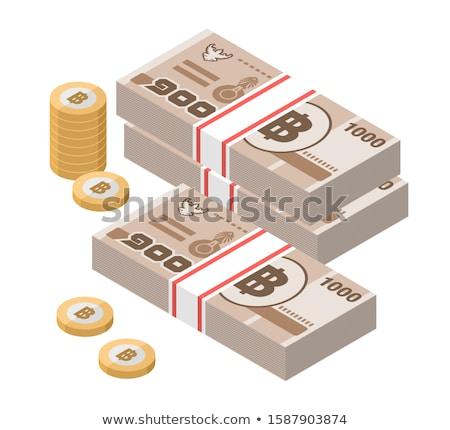 Bankjegy érme thai Thaiföld részlet pénz Stock fotó © CaptureLight