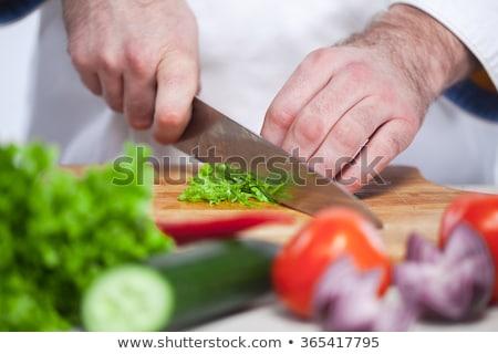 kişi · marul · atış · pişirme · akşam · yemeği - stok fotoğraf © master1305
