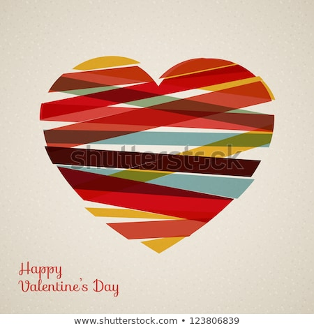 Valentine's day background with hearts, sample text Stock photo © shutswis