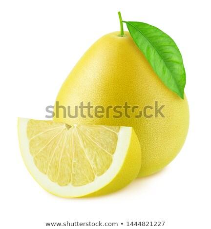 toranja · branco · suculento · isolado · folha · fruto - foto stock © leonardi