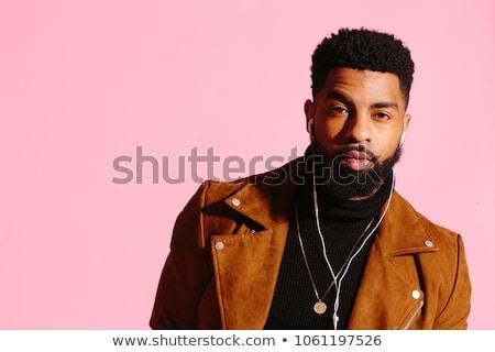 Young man with beard and pink hair Stock photo © zurijeta