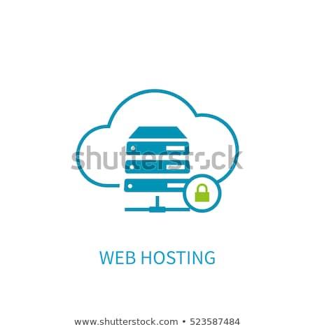 Güvenli hosting ikon iş gri düğme Stok fotoğraf © WaD