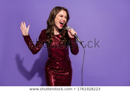 Woman Singer In Sequin Dress Stock photo © MilanMarkovic78
