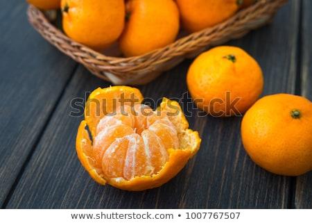 hámozott · mandarin · izolált · fehér · gyümölcs · bőr - stock fotó © maxsol7