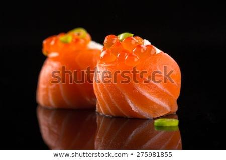salmon and caviar sushi stock photo © zhekos