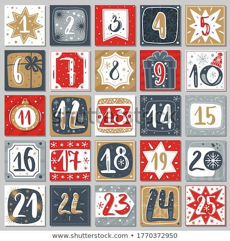 Noel · takvim · ikon · ofis · kâğıt · notepad - stok fotoğraf © helenstock