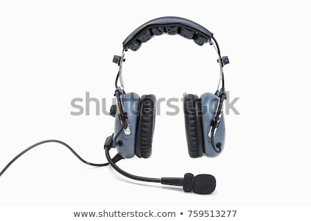 Pilot with headset  Stock photo © Amaviael