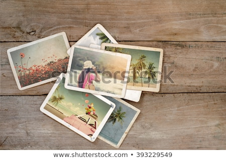Summer vacations girl rustic background Stock photo © marimorena
