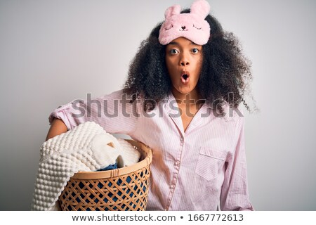 wonderful african-american woman sleeping Stock photo © Giulio_Fornasar