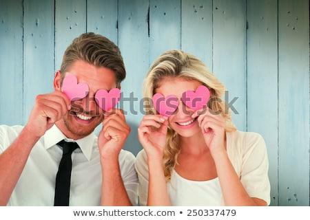 Bonito casal amor festa edifício sensual Foto stock © konradbak