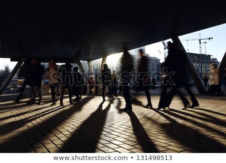 Ludzi spaceru ulicy metra drogowego budynku Zdjęcia stock © zurijeta