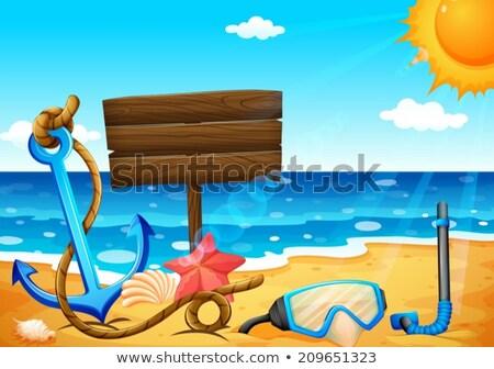 Vacío playa ancla ilustración agua Foto stock © bluering
