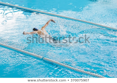 Clean the water line of a pool Stock photo © pixinoo