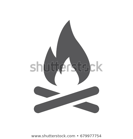 Icons with campfires Stock photo © bluering