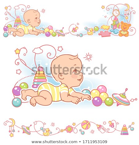 bébé · vêtements · cintre · rack · illustration · style - photo stock © rastudio