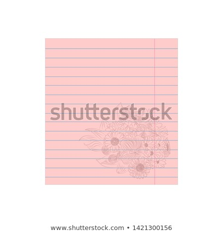 An empty pink template with floral margin Stock photo © bluering
