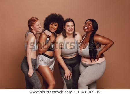 Négy személy különböző nő férfi boldog háttér Stock fotó © bluering