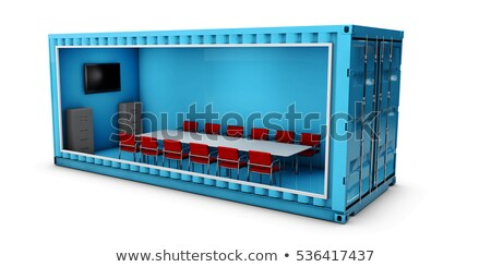 Illustration of Container Office. Reuse for building . Stock photo © tussik