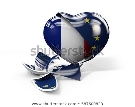 3d Illustration of France FRexit, European Union broken Stock photo © tussik