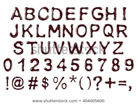 Chocolate Alphabets (lower case) Stock photo © neelvi
