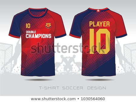T-shirt Isolated on White. Red Football Jersey Stock photo © robuart