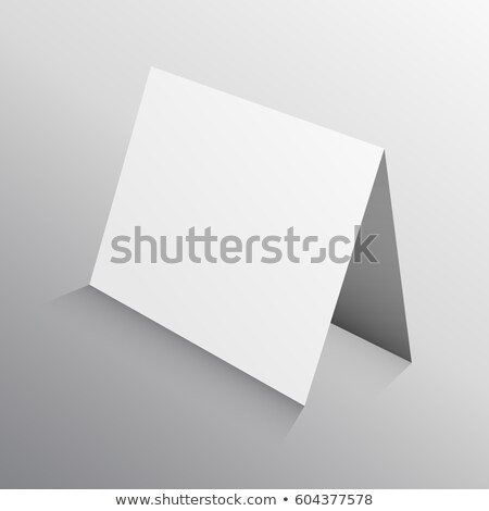 perspective folded paper card in 3d. mockup template Stock photo © SArts