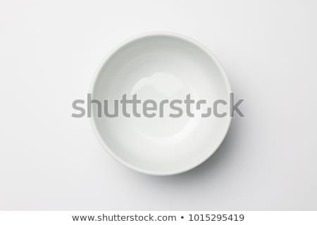 Mély fehér tál üres kerámia tiszta Stock fotó © Digifoodstock
