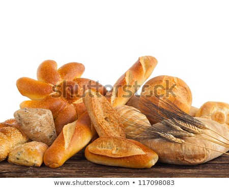 Baguette isolated. Sign for production of bread and bakery Stock photo © popaukropa