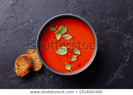 Frío tomate sopa estilo de vida saludable ingrediente Foto stock © M-studio