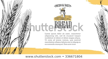 Mill black silhouette. Bakery. Vector illustration icon. Stock photo © Leo_Edition
