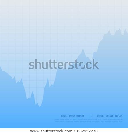 Azul gráfico de negocio tabla diseno alto bajo Foto stock © SArts