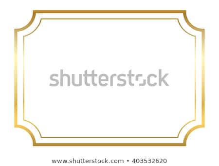 Egyszerű arany váz üres kivágás tükör Stock fotó © Suljo