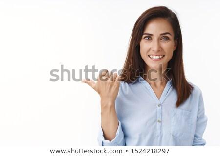 портрет улыбаясь деловая женщина презентация белый Сток-фото © wavebreak_media