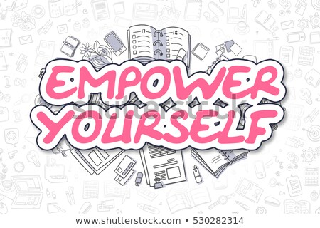 Empowering Business Concept with Doodle Design Icons. Stock photo © tashatuvango