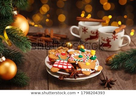 Karácsony gyömbér kekszek illusztráció torta vicces Stock fotó © adrenalina