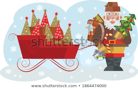Cartão crianças televisão ícone linear estilo Foto stock © Olena