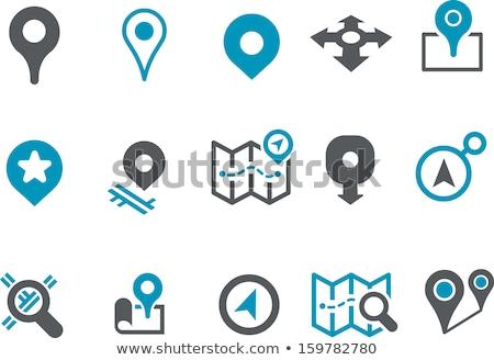 icon map  marked way  Stock photo © Olena