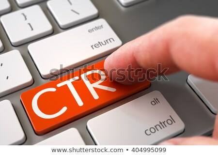 Stock photo: Hand Touching CTR Keypad.