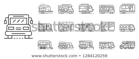 車 キャラバン 行 アイコン コーナー ウェブ ストックフォト © RAStudio