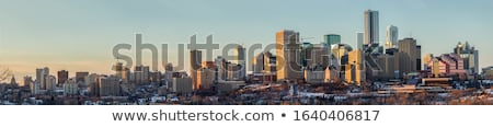 Moderne architectuur stad landschap zomer stedelijke regenboog Stockfoto © benkrut