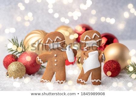 Christmas gingerbread man  Stock photo © OleksandrO