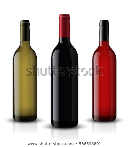 Realistic wine bottle. Isolated on white background. 3d glass bottles mock-up. Vector illustration. Stock photo © lucia_fox