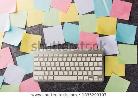 Carta da lettere tastiera computer carta matita comunicazione Foto d'archivio © devon