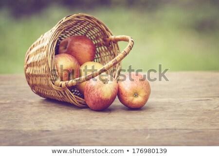 Zielone czerwony jabłka rustykalny tabeli Fotografia Zdjęcia stock © Valeriy