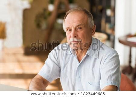 Hombre mirando grave negocios empresario pensamiento Foto stock © IS2