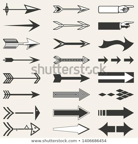 Klasszikus nyilak szimbólumok stílus retro interfész Stock fotó © studioworkstock
