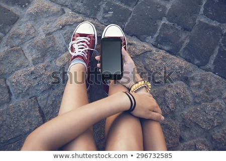Girl holding stone Stock photo © IS2