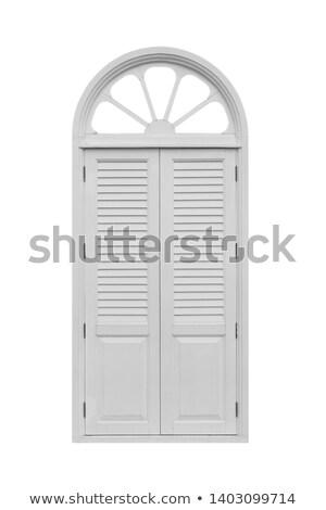 öreg fából készült ajtó fehér illusztráció terv Stock fotó © colematt