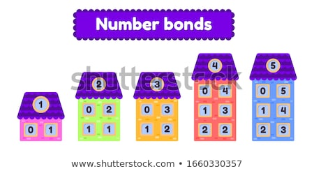 Number bonds of four Stock photo © bluering
