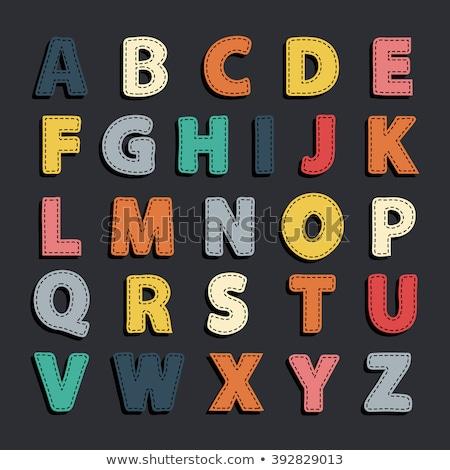 Stock photo: overlap alphabet letter art sign symbol
